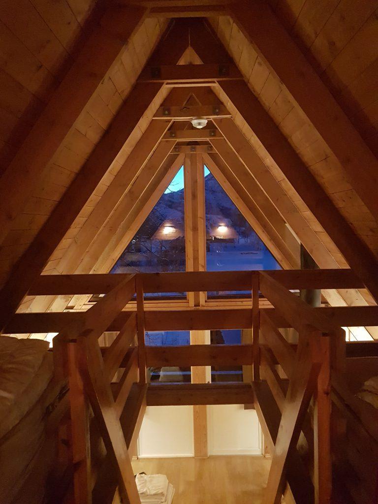 L'interno del cottage a Svolvaer