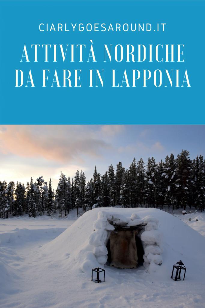 """Copertina Pinterest """"Attività invernali da fare in Lapponia"""""""