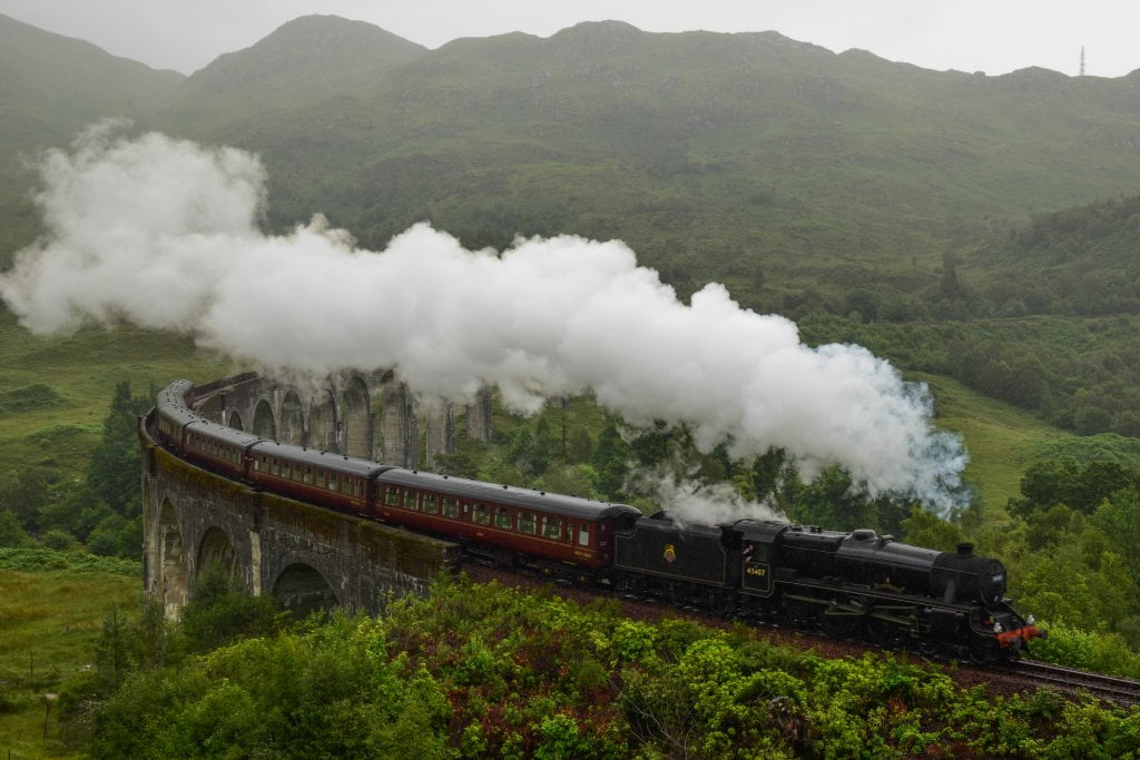 The Jacobite Steam train, l'Hogwarts Express di Harry Potter.