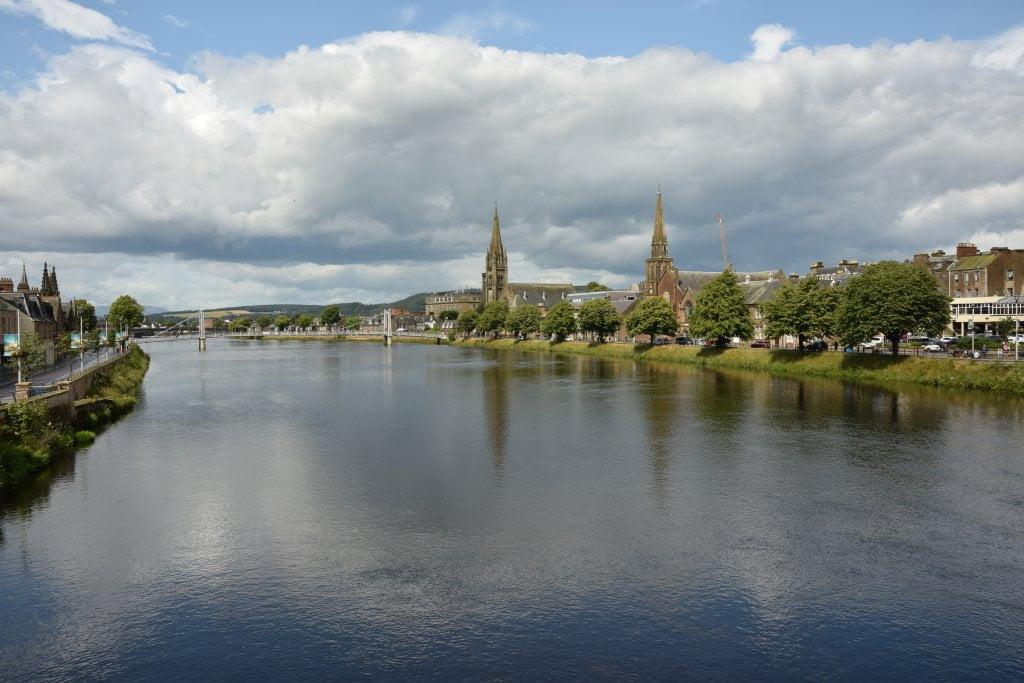 Inverness. Foto fatta sul fiume River Ness.