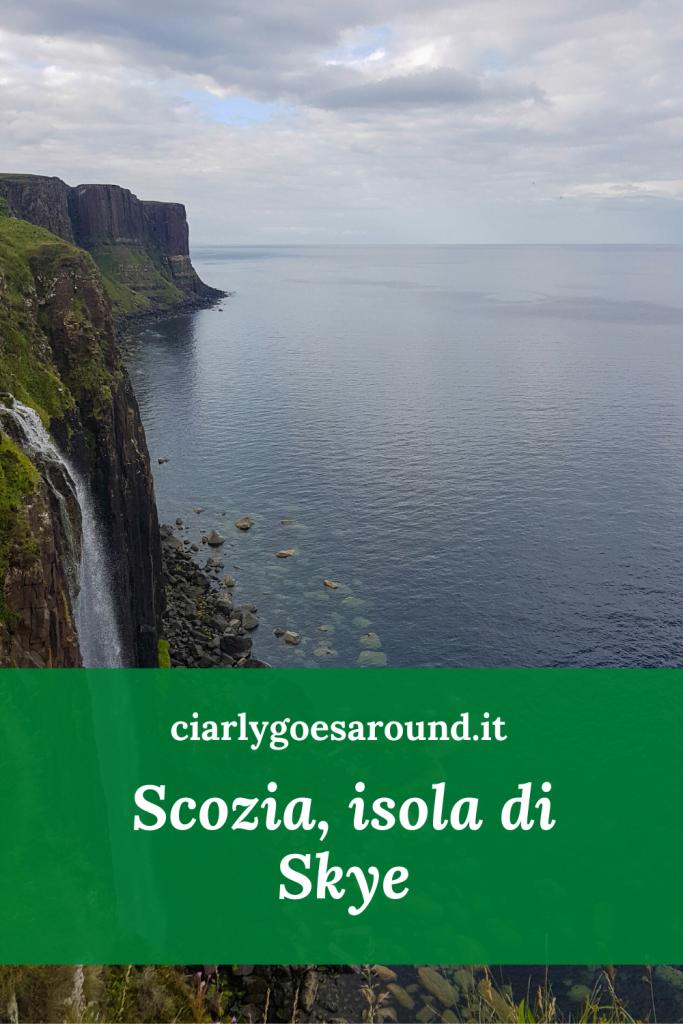 Copertina Pinterest cosa vedere sull'isola di Skye- Kilt Rock.