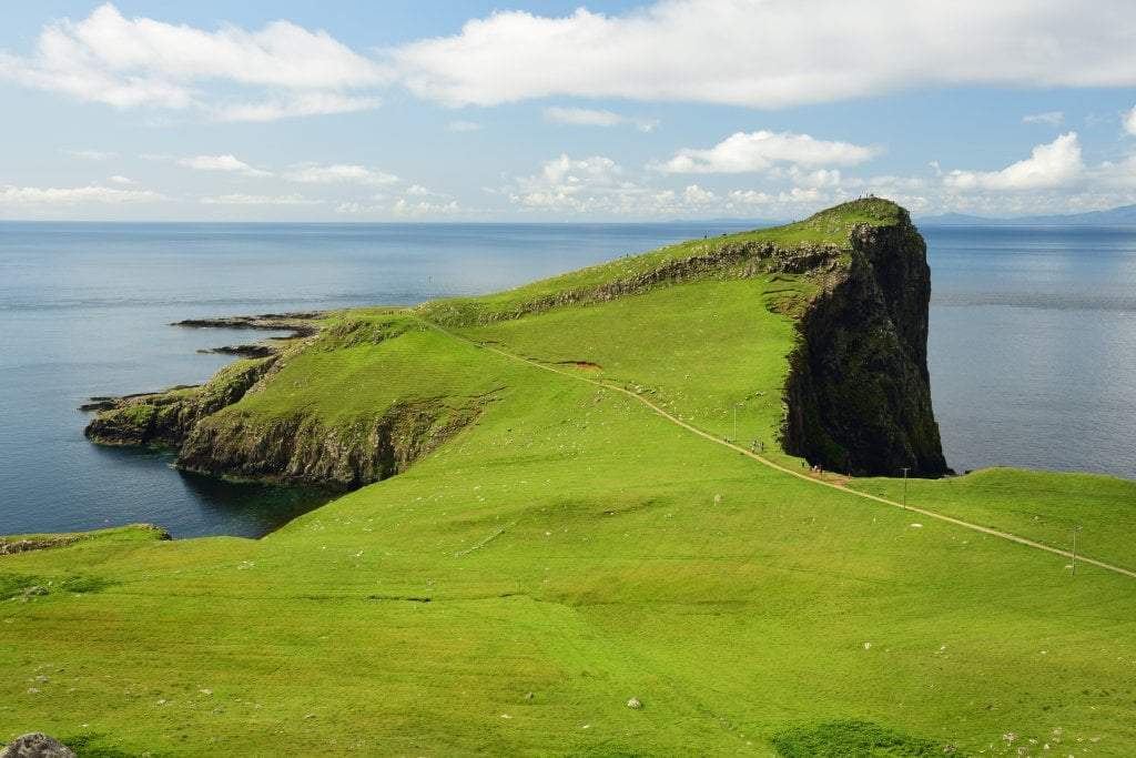 Cosa vedere sull'isola di Skye: sicuramente le scogliere a Neist Point.