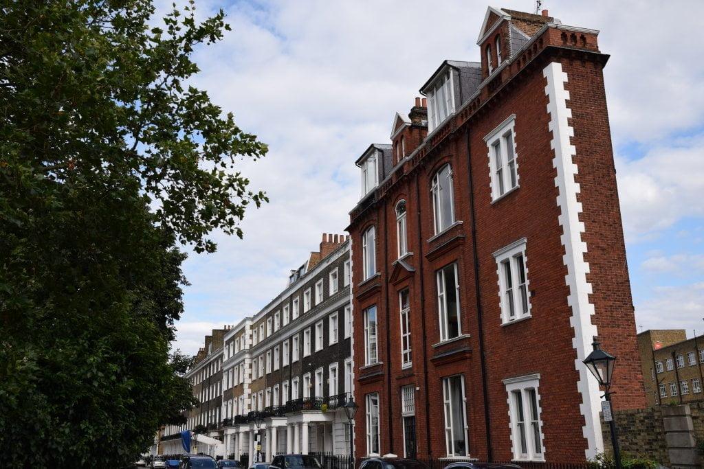 La Thin House di Londra vista dal davanti.