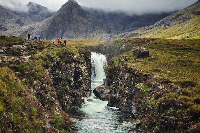 Le Fairy Pools sull'isola di Skye.