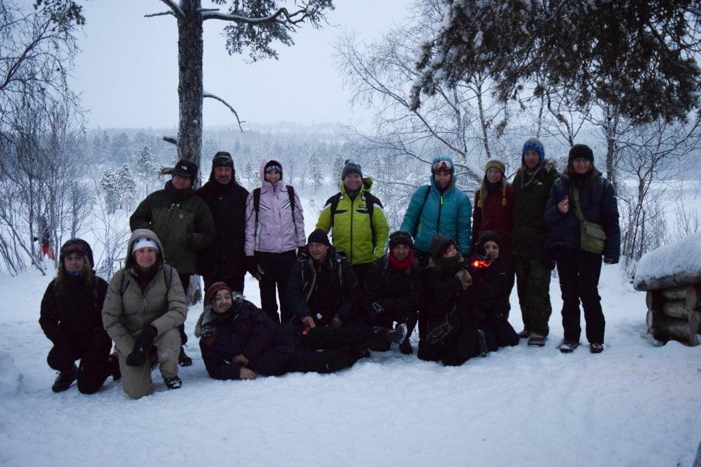 Il gruppo Aurore Boreali a Inari, Lapponia.