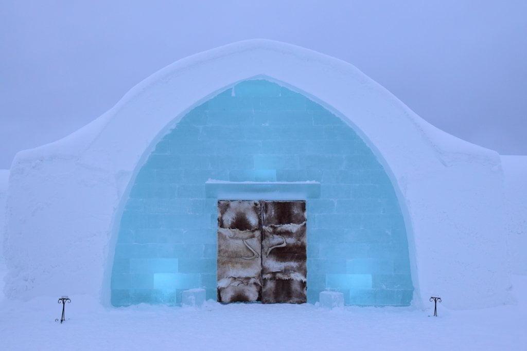 Ice Hotel: la porta d'ingresso dell'Ice Hotel.