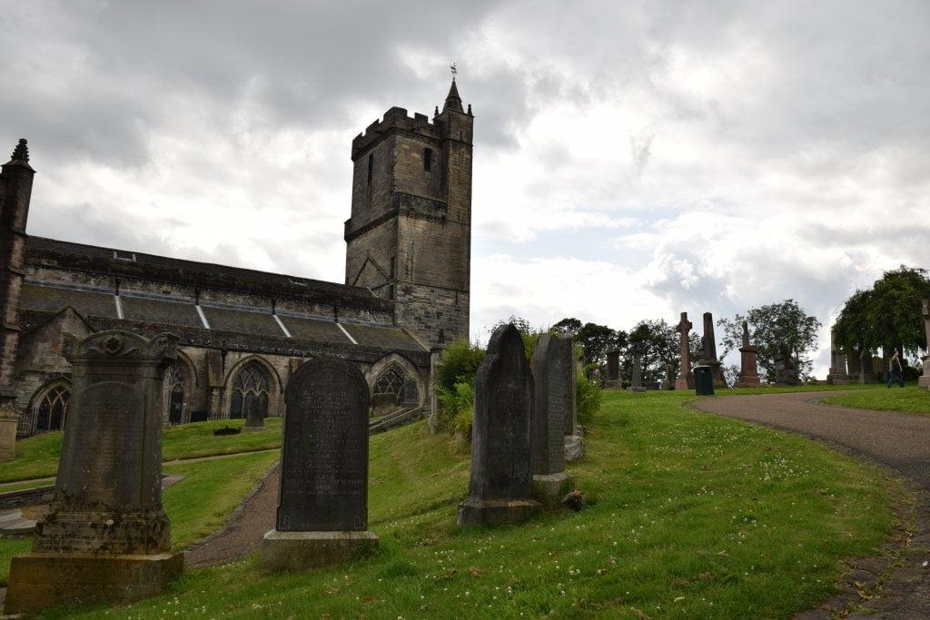 La chiesa e il cimitero Holy Rude (Stirling-Scozia).