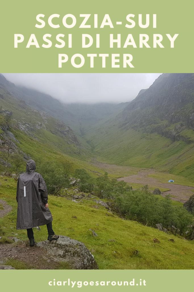 """copertina Pinteres """"Scozia-sui passi di Harry Potter"""""""