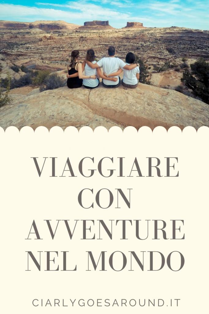 """Copertina Pinterest """"Viaggiare con Avventure nel mondo"""""""