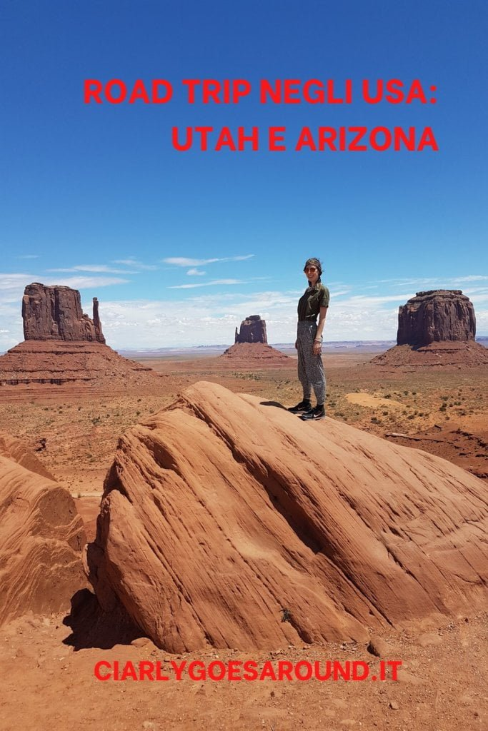 "Copertina Pinterest ""Road trip negli USA: Utah e Arizona""."
