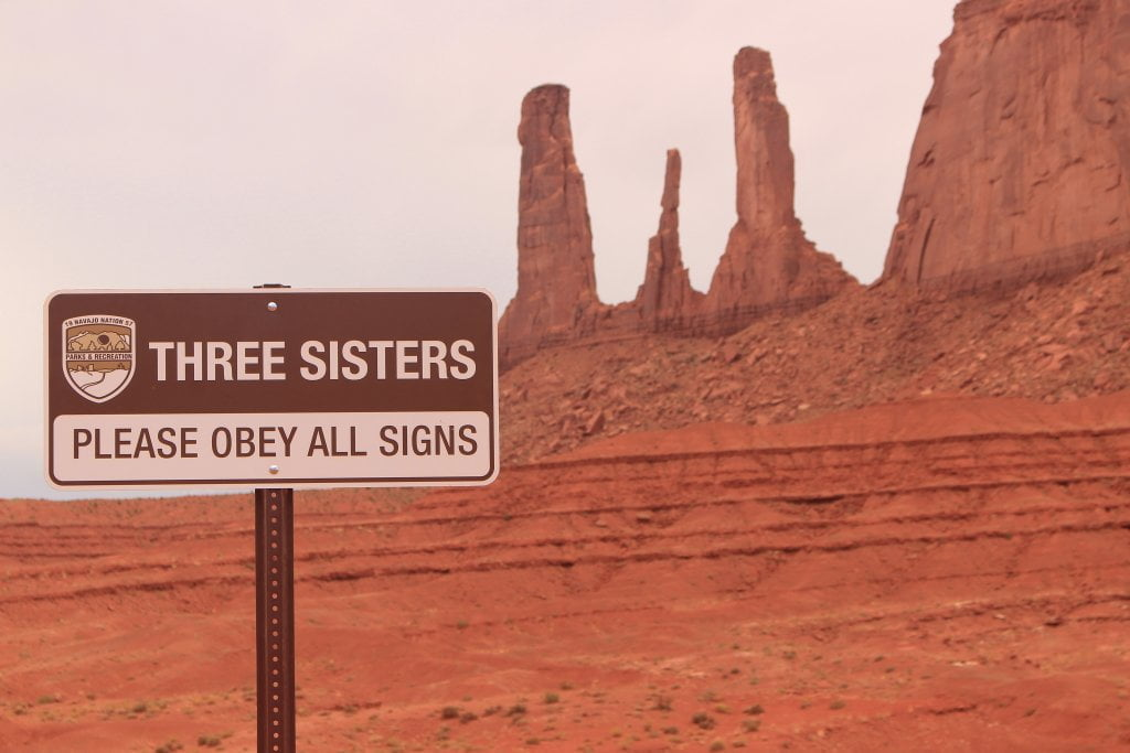 """Three sisters"" alla Monument Valley."