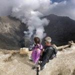 Sull'orlo del vulcano Bromo