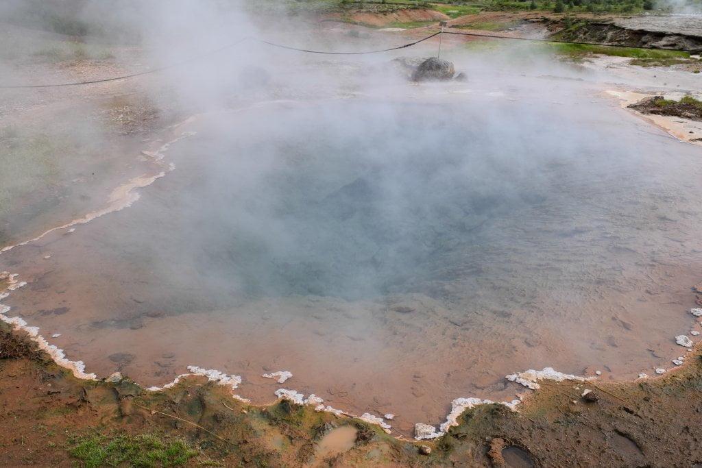 La formazione del geyser.