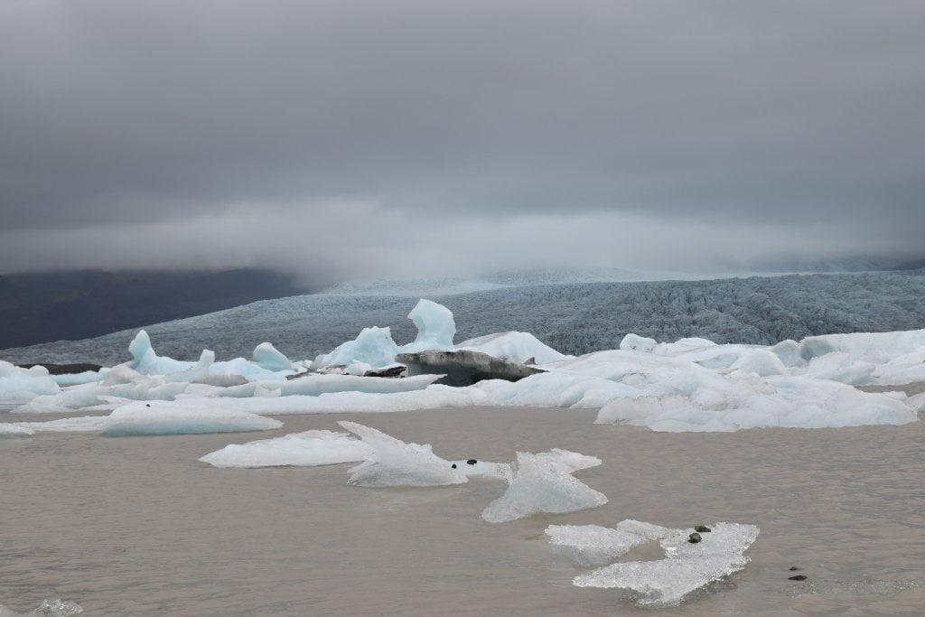 Panoramica del ghiacciaio Solheimajokull.