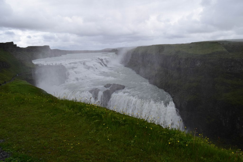 La magnifica cascata Gullfoss.