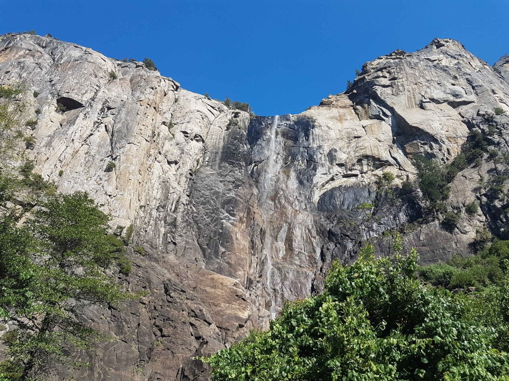 La cascata quasi inesistente allo Yosemite.