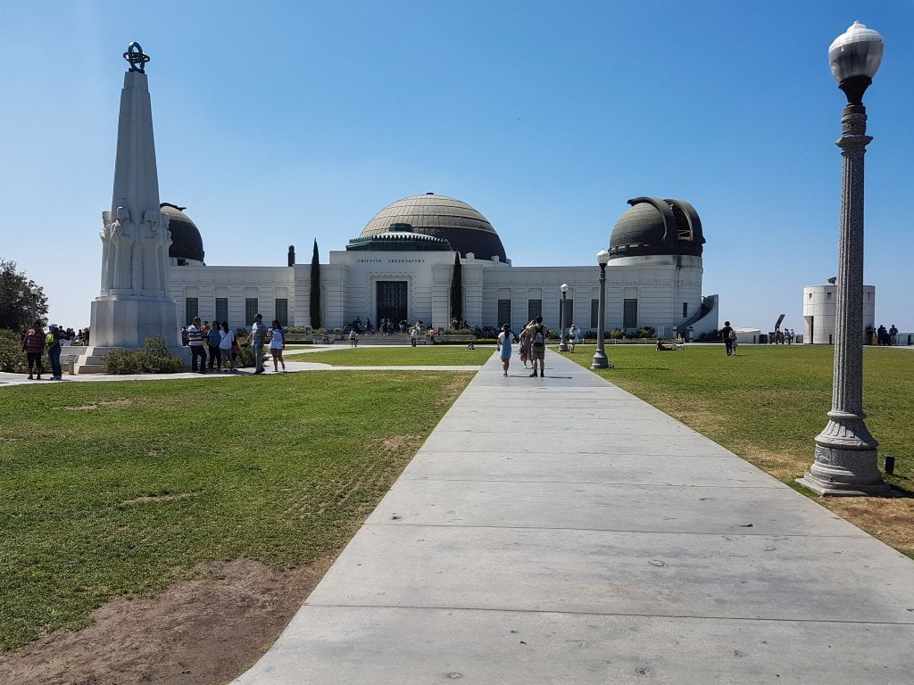 L'ingresso del Griffith Observatory, a Los Angeles.