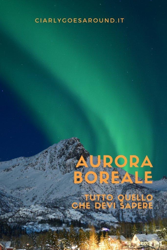 """Copertina Pinterest """"Aurora boreale: tutto quello che devi sapere"""""""