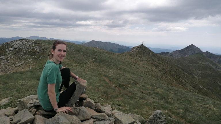 Ciarly sulla cresta del monte Giovo