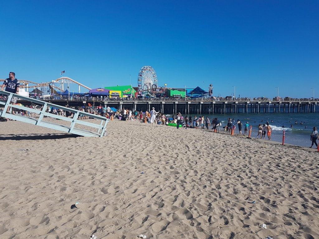 Il famoso molo di Santa Monica, Los Angeles.