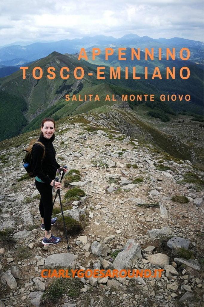 Copertina Pinterest Appennino tosco-emiliano, salita al monte Giovo.