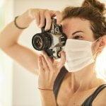 fotografa con mascherina