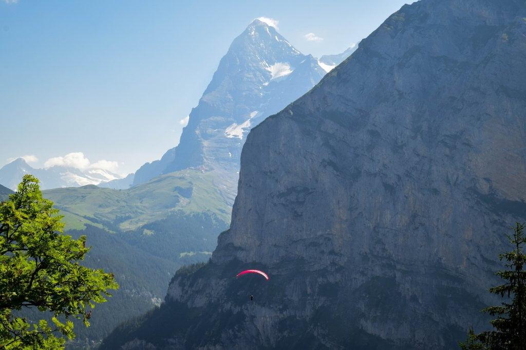 Vista della Jungfrau da Murren.