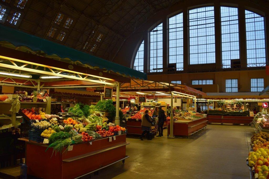 Il mercato coperto di Riga
