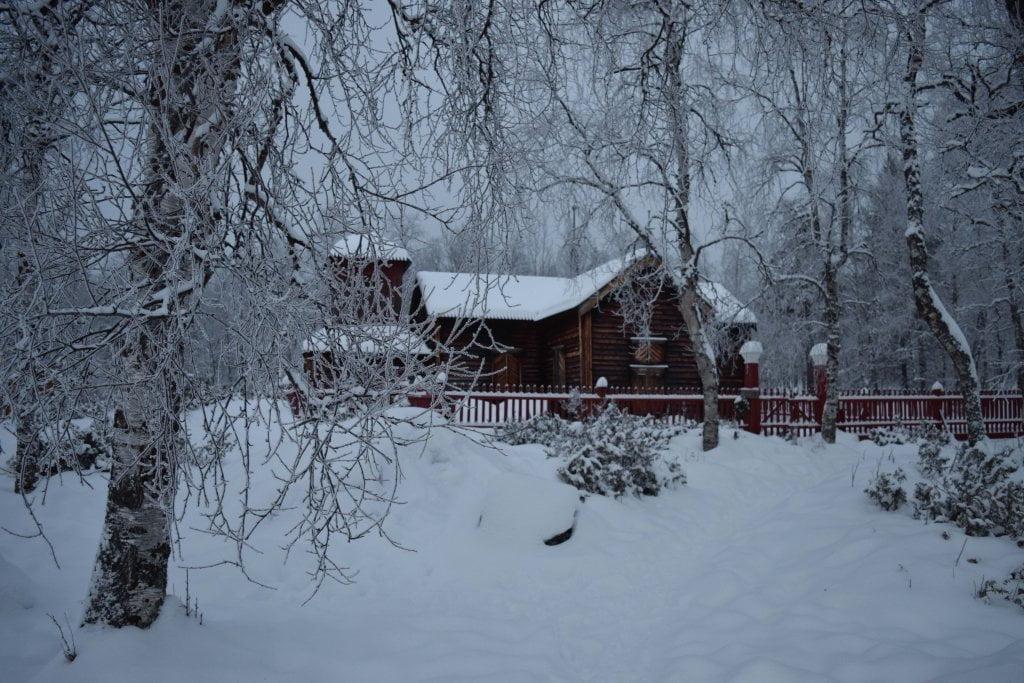 Lapponia finlandese in inverno: la chiesa di Piepläjarven.
