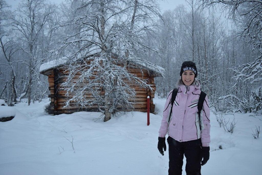 Lapponia finlandese in inverno: Ciarly nel bosco innevato