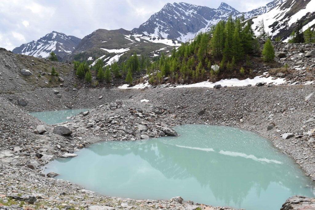 Le vallate più belle della Valle d'Aosta: i laghetti del Miage, in Val Veny.