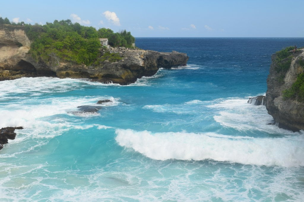 La vista sull'oceano a Nusa Lembongan